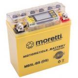 Bezúdržbová gélová batéria Moretti MB5L-BS, 12V 5Ah s meračom napätia