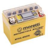 Bezúdržbová gélová batéria Moretti MTX4L-BS, 12V 4Ah s meračom napätia
