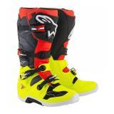Čižmy na motocykel Alpinestars Tech 7 červeno-fluo žlté