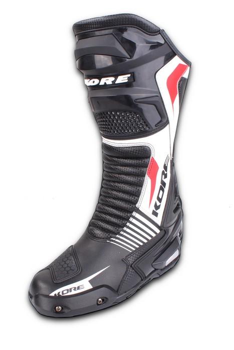 0887cdc6a68e Topánky na motorku Kore Sport čierno-bielo-červené