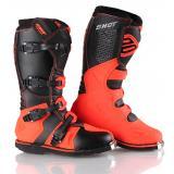 Čižmy na motocykel Shot X10 čierno-fluo oranžové