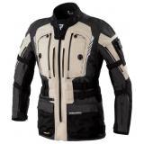 Bunda na motocykel Rebelhorn Patrol čierno-pieskovo-šedá