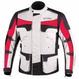 Bunda na motocykel RSA Tiger čierno-šedo-červená