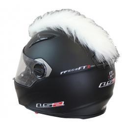 Číro na helmu bílé