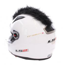 Číro na helmu černé