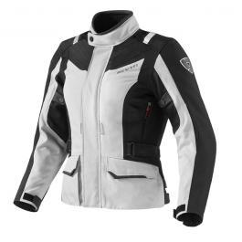Dámska bunda na moto Revit Voltiac strieborno-čierna výpredaj