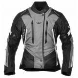 Dámska bunda na motorku Ayrton Teressa čierno-šedo-biela