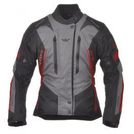 Moto bunda dámska Ayrton Teressa čierno-šedo-červená