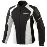 Dámská bunda na motorku Ozone Edge Evo Lady - černo/šedá