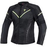Dámska bunda na motocykel Rebelhorn Flux čierno-fluo žltá