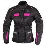 Dámska bunda na motorku RSA Gun čierno-ružová