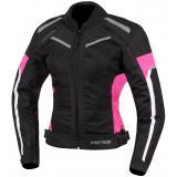 Dámska bunda na motorku Street Racer Betty čierno-bielo-ružová
