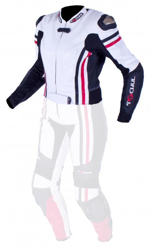 39ad485f62d5 Dámska bunda Tschul 556 bielo-čierno-červená vypredaj Výpredaj