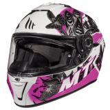 Dámska integrálna prilba na motocykel MT Blade 2 SV Breeze čierno-bielo-ružová