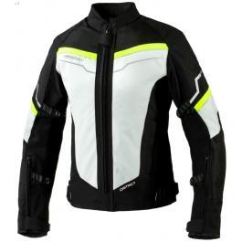 Dámska moto bunda Rebelhorn District šedo-čierno-fluo žltá výpredaj