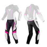 Dámské kalhoty na motocykel Shima Miura 2.0 čierno-bielo-fluo ružové