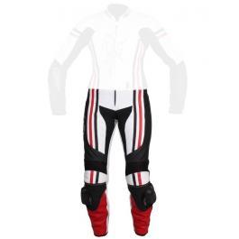 Dámske moto nohavice Tschul 554 bielo-čierno-červené vypredaj výpredaj