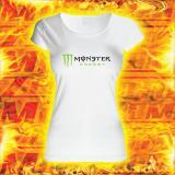 Dámské triko s motivem Monster bílé výprodej