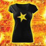 Dámské triko s motivem Rockstar černé