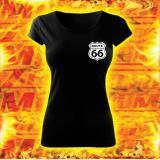 Dámske tričko s motívom Route 66 vypredaj