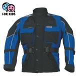 Dětská bunda na motorku Roleff černo modrá