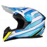 Detská motokrosová prilba ZED X1.9D bielo-modro-žlto-čierna