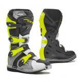 Detské topánky na motorku Forma Cougar šedo-bielo-fluo žlté výpredaj