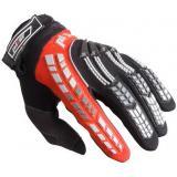 Dětské mx rukavice na motorku Pilot čierno-červené