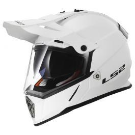 Enduro prilba na motorku LS2 MX436 Pioneer biela