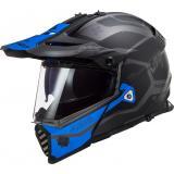 Enduro prilba LS2 MX436 Pioneer EVO Cobra čierno-modrá