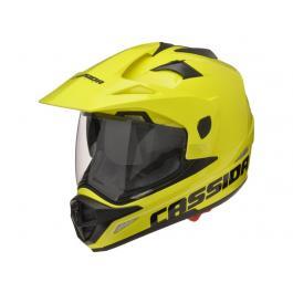 Enduro prilba na moto Cassida Tour fluo žltá
