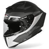 Integrálna prilba Airoh GP 550S Vector čierno-bielo-strieborná