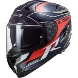 Integrálna prilba na motocykel LS2 FF327 Challenger C Grid čierno-modro-červená