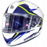 Integrálna prilba na motorku MT Kre Intrepid SV biela-fluo žltá
