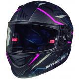 Integrálna prilba na motorku MT Kre Intrepid SV čierna matná-fluo ružová