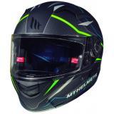Integrálna prilba na motorku MT Kre Intrepid SV čierna matná-fluo zelená
