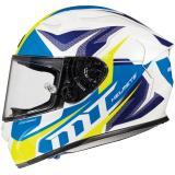 Integrálna prilba na motocykel MT Kre Lookout bielo-modro-fluo žltá