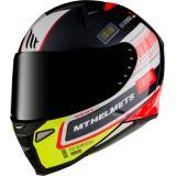 Integrálna prilba na motocykel MT Revenge 2 RS čierno-bielo-žlto-červená