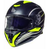 Integrálna prilba na motorku MT Targo Doppler fluo žltá matná
