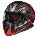 Integrálna prilba na motocykel MT Thunder 3 SV Isle Of Man čierno-šedo-červená