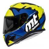 Integrálna prilba na motorku MT Thunder 3 SV Torn fluo žlto-modrá