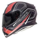 Integrálna prilba na motorku MT Thunder 3 SV Trace čierna matná-červená