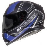 Integrálna prilba na motorku MT Thunder 3 SV Trace čierna matná-modrá