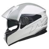 Integrálna prilba na motorku NOX N301 Cut bielo-šedá