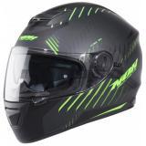 Integrálna prilba NOX N301 RIM čierna matná-fluo zelená vypredaj