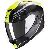 Integrálna prilba Scorpion EXO-1400 Carbon Air Beaux čierno-bielo-fluo žltá