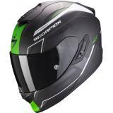 Integrálna prilba Scorpion EXO-1400 Carbon Air Beaux čierno-bielo-zelená