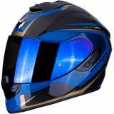 Integrálna prilba Scorpion EXO-1400 Carbon Air Esprit čierno-modrá