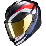 Integrálna prilba Scorpion EXO-1400 Carbon Air Legion čierno-červeno-modrá