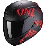 Integrálna prilba Scorpion EXO-390 Oneway čierno-červená